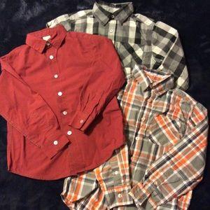 Bundle of 3 Boy Button Down dress shirts Sz 8
